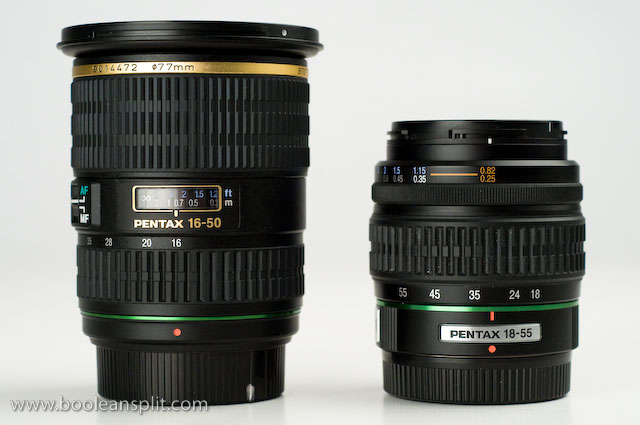 Pentax 16-50 f/2.8 DA* vs. 18-55 f/3.5-5.6 DA kit lens