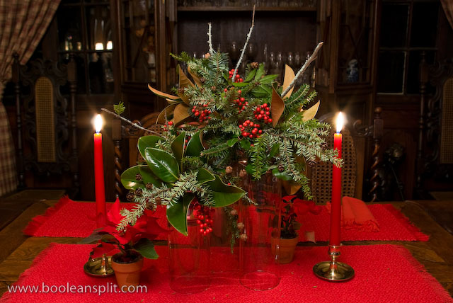 Christmas centerpiece arrangement